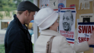 1x08 David Mary Margaret éléctions affiches candidats Sidney Emma discussions