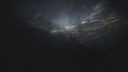1x05 cercueil de verre Blanche-Neige restes ruines grotte caverne souterraine Storybrooke
