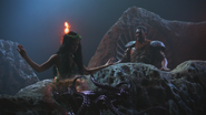 4x15 Ursula jeune sirène Roi Poséidon transformation tentacules