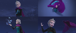 La Reine des Neiges (Disney) Elsa gant magie cryokinésie Montagne du Nord Libérée Délivrée Let It Go