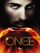 Once Upon A Time saison 5 affiche Capitaine Crochet Killian Jones pomme feu Enfers