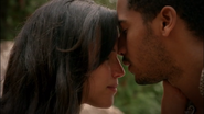 5x07 Nimue Merlin baiser amoureux promesse immortalité