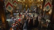 6x10 vue Princesse Emma Swan Roi David Reine Blanche-Neige fête d'anniversaire invités convives