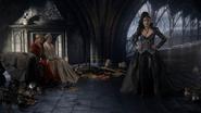 6x10 Regina Mills Méchante Reine palais sombre Roi David Reine Blanche-Neige ligotés attente Emma