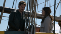 6x02 Killian Jones Belle French accepte proposition vivre Jolly Roger