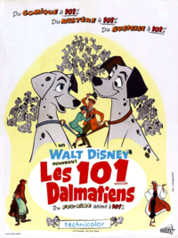 Les 101 Dalmatiens One Hundred and One Dalmatians Disney 1961 affiche poster