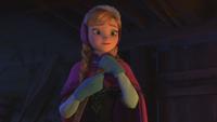 La Reine des Neiges (Disney) Anna sourire demande guide Montagne du Nord