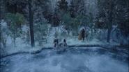 7x09 Famille heureuse lac gelé envol