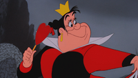 Alice au Pays des Merveilles (Disney) 1951 Reine de Cœur sceptre bâton apparition sourire
