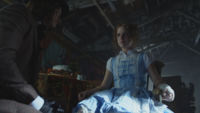 Gotham 3x04 Jervis Chapelier Fou Alice Tetch table corbeille fruits pot à lait chaise cordes ligotée bandage