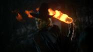 3x20 Zelena Méchante Sorcière de l'Ouest attaque lancer magie boule de feu magique pyrokinésie