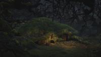 Rebelle Brave Disney maison cabane de la Sorcière sculptrice mini