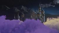 5x10 Sort noir Malédiction nuage violet château de Camelot nuit