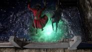 6x16 Barbe Noire Killian Jones portail haricot magique mer