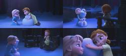 La Reine des Neiges (Disney) Elsa Anna enfant salle de bal bonhomme de neige Olaf