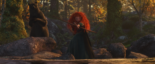 Rebelle Brave Disney Merida Reine Elinor ourse tir à l'arc pêche