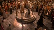 1x01 Blanche-Neige Prince David Charmant Reine Regina Méchante Reine menaces Malédiction royaume mariage présent