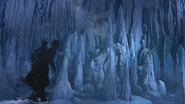 4x02 Killian Jones Capitaine Crochet David Nolan mur prison de glace avalanche entrée bloquée