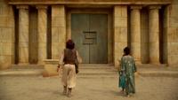 6x05 Aladdin Jasmine porte caverne aux merveilles desert d'Agrabah