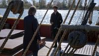5x10 M. Gold dos Killian Jones Capitaine Crochet Ténébreux rendez-vous Jolly Roger bâteau combat
