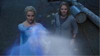 4x02 Emma Swan Elsa Reine des Neiges tentative fonte mur de glace