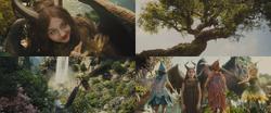 Maléfique film 2014 enfant arbre Lande fées