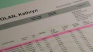 1x14 liste relevés téléphoniques Kathryn Nolan David appel 8 minutes