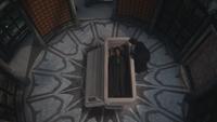 2x09 Cora Méchante Reine Regina cercueil crypte mausolée