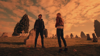 5x12 cimetière des Enfers pierres tombales tombes Killian Jones Emma Swan