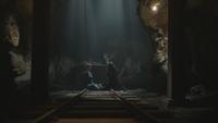 6x19 Mère Supérieure Fiona Fée Noire rails chariot wagon berline sous-sol mines de Storybrooke