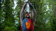 5x01 Roi Arthur Excalibur retirée incomplète embout pointe manquante