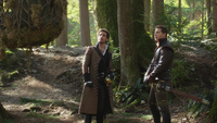 3x22 Blanche-Neige Killian Jones Capitaine Crochet Charles Prince Charmant forêt piège filet