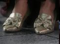 Portal-Silberne Schuhe