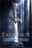 Once Upon a Time season 5 Excalibur the mighiest of all swords poster