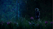 5x10 Emma Dark Swan champ fleurs roses nuit recherche désespérément Killian contrainte utilisation Excalibur convocation
