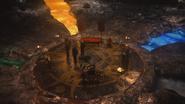 5x13 repaire souterrain Hadès hommes de main en noir Killian Jones Crochet pentacle pentagramme étoile rivières infernales fleuves infernaux des Enfers