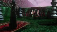 W1x04 Tweedledum Tweedledee Elizabeth Anastasia Reine Rouge Alice Will Scarlet Jafar bâton serpent tapis magique labyrinthe gardes rouges