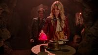 5x20 Emma Swan Killian Jones test cœur enchanté Enfers balance véritable amour jaquette rouge