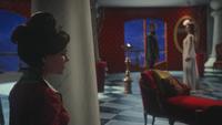 W1x11 Cora Reine de Cœur colonne chambre Will Scarlet Anastasia Reine Rouge Blanche discussion conversation espionnage