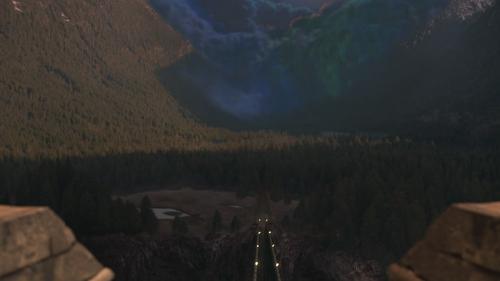 1x01 Sort noir Malédiction nuage Royaume forêt enchantée montagne vallée vallon vue palais royal