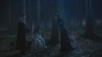 3x19 forêt Prince Charmant David Blanche-Neige Reine Regina Sort noir Malédiction