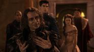 1x12 messager conseiller militaire Rumplestiltskin Gaston LeGume Belle Seigneur Maurice recherche amour
