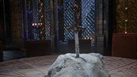 5x10 Excalibur épée rocher Table Ronde château Camelot