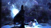 1x01 Méchante Reine Regina Blanche-Neige Prince David Charmant victoire Sort noir Malédiction nuage violet magique nurserie nursery palais royal