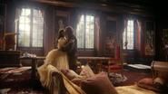6x01 Belle French Rumplestiltskin Bête M. Gold baiser Véritable Amour malédiction Ténébreux Pays des Rêves salon séjour Château des Ténèbres