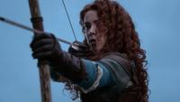 5x09 Merida arc de guerre flèche guerre bataille combat envahisseur tentative sauver vie Roi Fergus