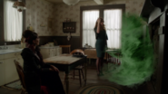 6x05 Zelena magie Méchante Reine maison Robin Archie cuisine côté méchant