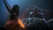4x15 Ursula jeune sirène trident Roi Poséidon transformation tentacules