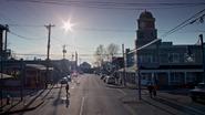 5x16 Storybrooke vue grand-rue principale tour de l'horloge