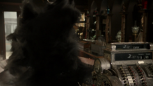 6x17 Fée Noire téléportation fumée noire